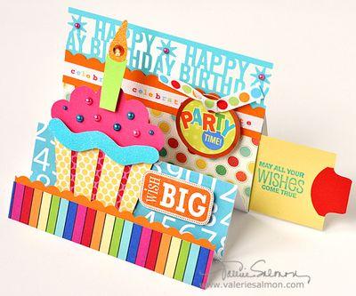 Valerie Salmon Designs A birthday card – Scrapbook Birthday Cards